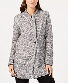 Eileen Fisher Organic Cotton Stand-Collar Jacket, Regular & Petite