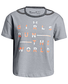 Under Armour Big Girls Run The World-Print T-Shirt
