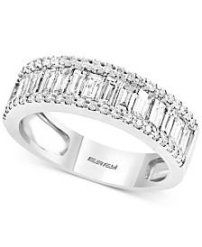 EFFY® Diamond Baguette Band (1-1/6 ct. t.w.) in 14k White Gold