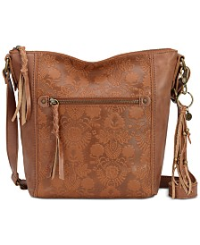 The Sak Ashland Leather Floral Crossbody