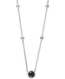 "EFFY® Diamond Halo 18"" Pendant Necklace (7/8 ct. t.w.) in 14k White Gold"