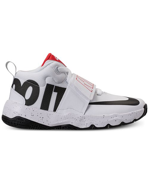 2d2301edaa0 Nike Boys  Team Hustle D8 Just Do It Basketball Sneakers from Finish ...
