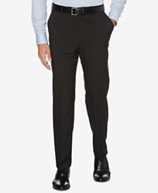 CLOSEOUT! Perry Ellis Men's Portfolio Classic-Fit Stretch Crosshatch Dress Pants