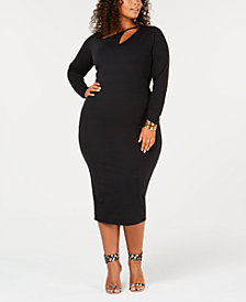Rebdolls Plus Size Midi Dress from The Workshop at Macy's