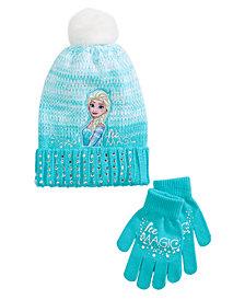 Frozen Little & Big Girls 2-Pc. Hat & Gloves Set