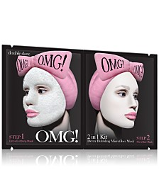 Double Dare OMG! 2-In-1 Detox Bubbling Microfiber Mask