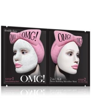 Omg! 2-In-1 Detox Bubbling Microfiber Mask