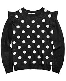 Epic Threads Big Girls Polka Dot Sweater, Created for Macy's