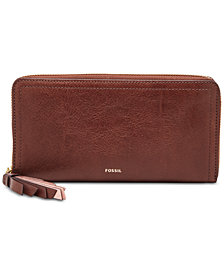 Fossil Logan RFID Zip Around Wallet