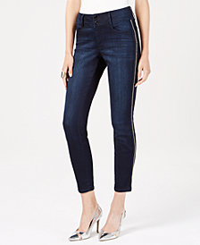 Thalia Sodi Chain-Stripe Skinny Jeans, Created for Macy's