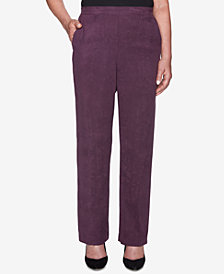 Alfred Dunner Petite Victoria Falls Faux-Suede Pull-On Pants
