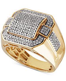 Men's Diamond Pavé Ring (3/4 ct. t.w.) in 10k Gold