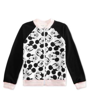 Disney Big Girls Mickey Face FullZip Bomber Jacket