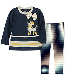 Kids Headquarters Toddler Girls 2-Pc. Tunic & Striped Leggings Set