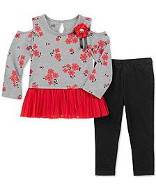Kids Headquarters Toddler Girls 2-Pc. Cold Shoulder Tunic & Leggings Set