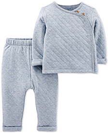 Carter's Baby Boys 2-Pc. Quilted Top & Pants Set