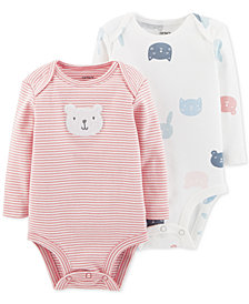 Carter's Baby Girls 2-Pk. Cotton Bodysuits