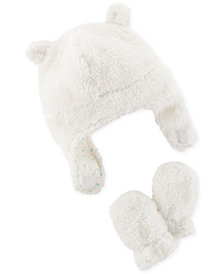 Carter's Baby Girls Fleece Hat & Mitten Set