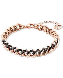 Swarovski Two-Tone Crystal Link Bracelet