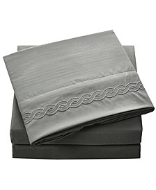 Double Brushed Microfiber Bed Sheet Set Queen