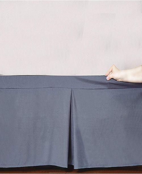 De Moocci Microfiber Tailored Bed-Skirt Abrasion Resistant, Quadruple Pleated Collection