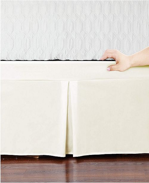 De Moocci Microfiber Tailored Bed-Skirt Abrasion Resistant, Quadruple Pleated