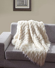Faux Fur Throw Blanket, Super Soft Eyelash Fuzzy Light Weight Luxurious Cozy  - 50 x 60