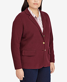 Lauren Ralph Lauren Plus Size Slim Fit Blazer