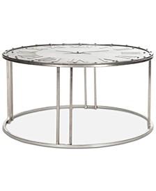 Roman Clock Cocktail Table