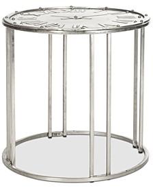 Roman Clock End Table