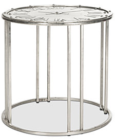 Roman Clock End Table, Quick Ship