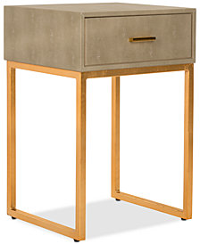 Mori Shagreen Modern Side Table, Quick Ship