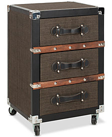 Lewis 3-Drawer Rolling Chest, Quick Ship