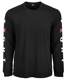 ID Ideology Men's Breast Cancer Awareness Graphic Long-Sleeve T-Shirt, Created for Macy's
