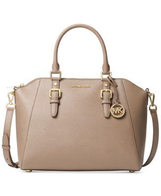 michael kors ciara large saffiano leather satchel handbags rh macys com