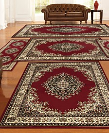 KM Home Tuscany Kerman 5-Pc. Red Rug Set