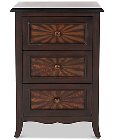 Conrad 3-Drawer Side Table, Quick Ship