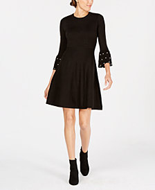 Jessica Howard Petite Embellished Sweater Dress