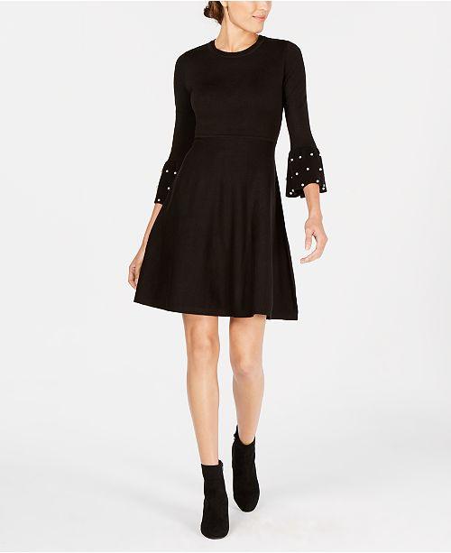 77b4aeeed13 Jessica Howard Petite Embellished Sweater Dress   Reviews ...
