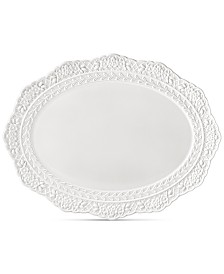 Lenox Chelse Muse Sculptured Oval Platter