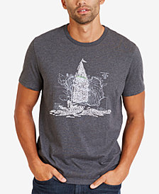Nautica Men's Big & Tall Classic Fit Ocean Graphic T-Shirt