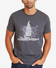 Nautica Men's Big & Tall Classic Fit Ocean Graphic T-Shirt