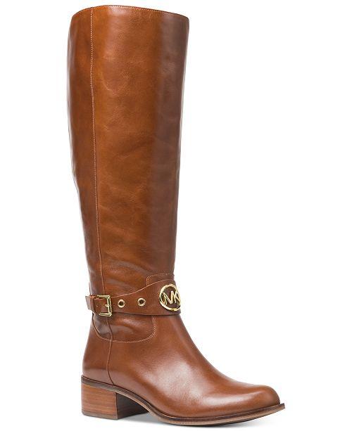 Michael Kors Heather Wide Calf Riding Boots