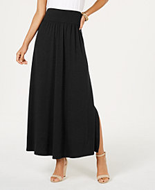 Style & Co Side-Slit Maxi Skirt, Created for Macy's