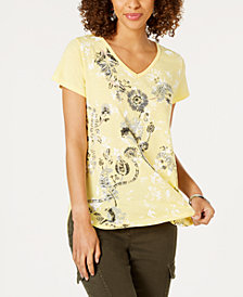 Style & Co Graphic-Print T-Shirt, Created for Macy's