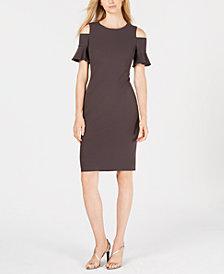 Calvin Klein Petite Cold-Shoulder Sheath Dress