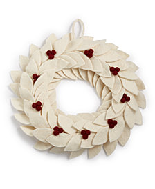 Global Goods Partners Felted Holiday Berry Wreath