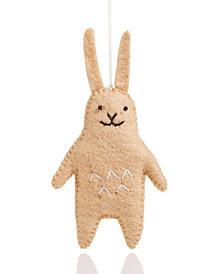 Global Goods Partners Felt Rabbit Ornament