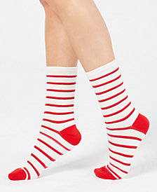 Charter Club Women's Striped Crew Socks, Created for Macy's