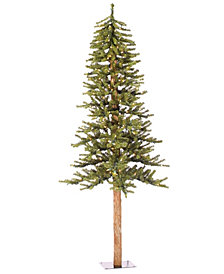 6' Natural Alpine Artificial Christmas Tree with 250 Multi-Colored Lights